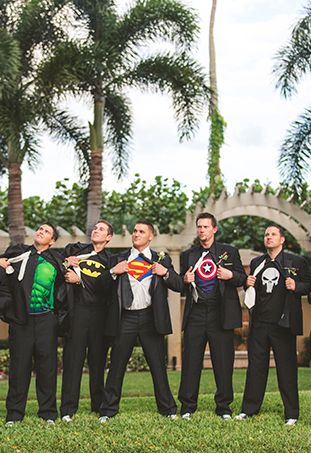 Superhero Groomsmen! Except I'm more of a Marvel kinda girl.