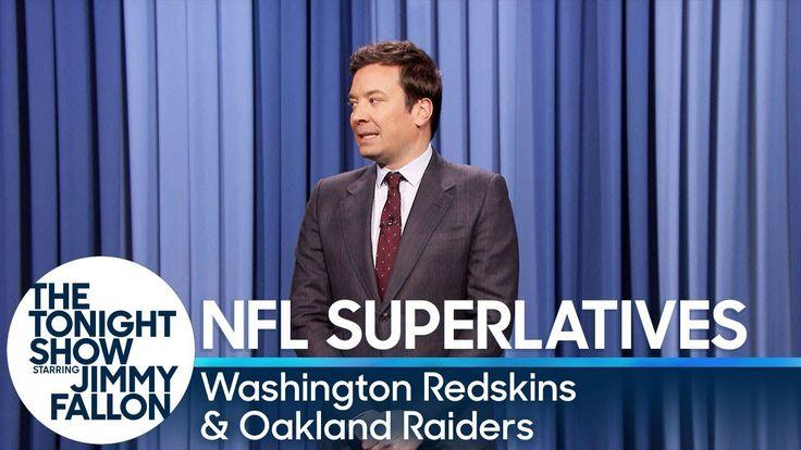 Tonight Show Superlatives: 2017 NFL Season - Redskins and Raiders - YouTube