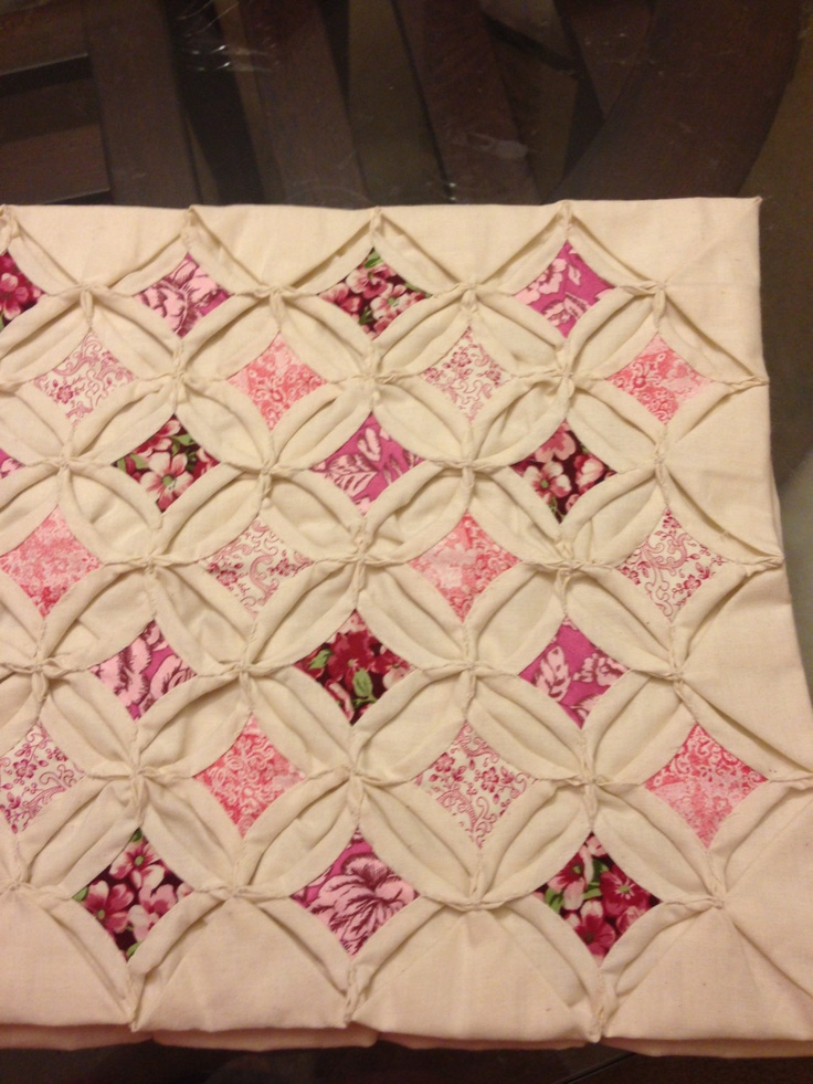 Muslin cathedral window quilt via etsy quilts for Window quilt