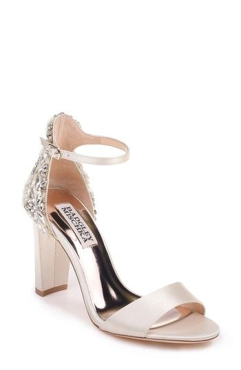 02e9a785fdf Free shipping and returns on Badgley Mischka Seina Ankle Strap Sandal (Women)  at Nordstrom.com. Sparkling crystals embellish the back of a block-heel  sandal ...