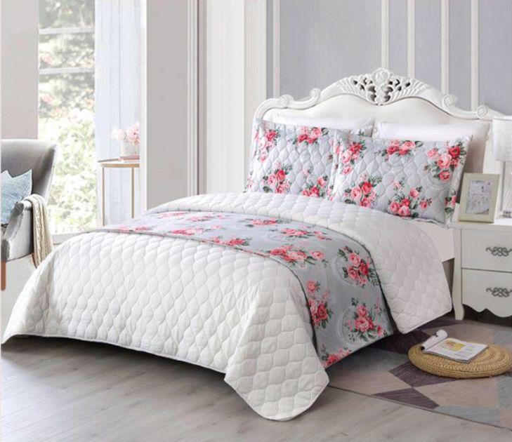 طقم لحاف صيفي مزدوج 6 قطع عل وجهين Manto Home Decor Furniture Bed