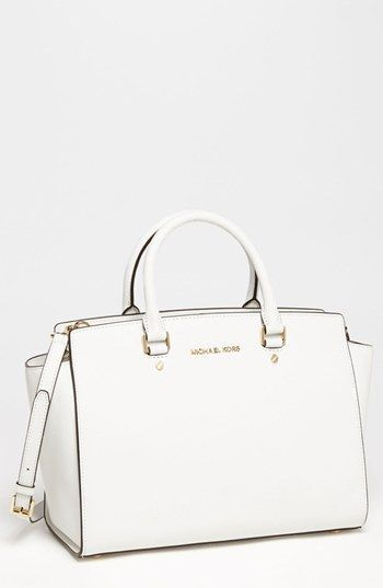 I got this bag for christmas and i absoulutly love it ! MICHAEL Michael Kors Selma - Large Leather Satchel | Nordstrom