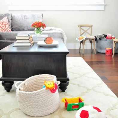 Kid Friendly Family Room Design Pictures Remodel Decor And Ideas Transitional Living