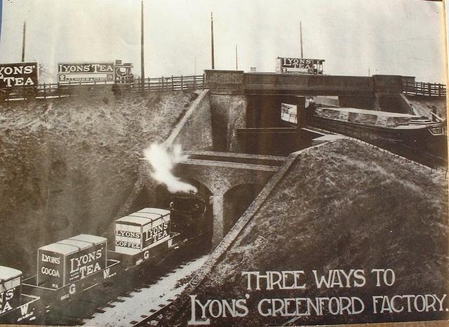 Three ways to Lyons factory aka Three Bridges in Hanwell by StockCarPete, via Flickr
