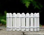 Piquet de clôture blanche Fairy Garden supply pour accessoires de jardin féerique