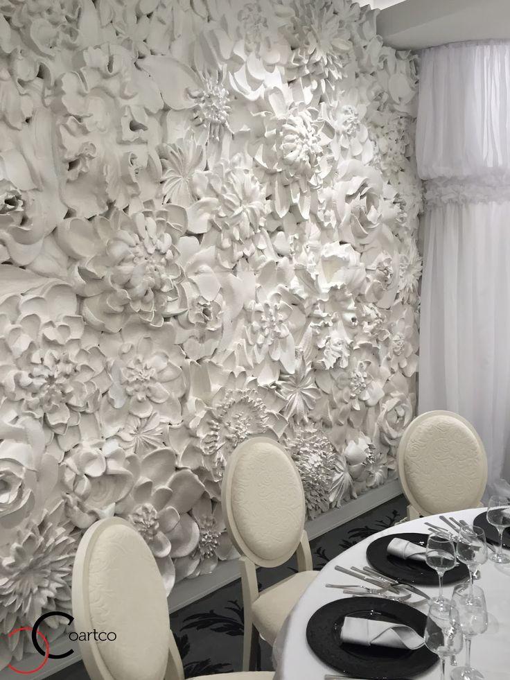 Panou decorativ 3D din polistiren CoArtCo pentru salon de evenimente