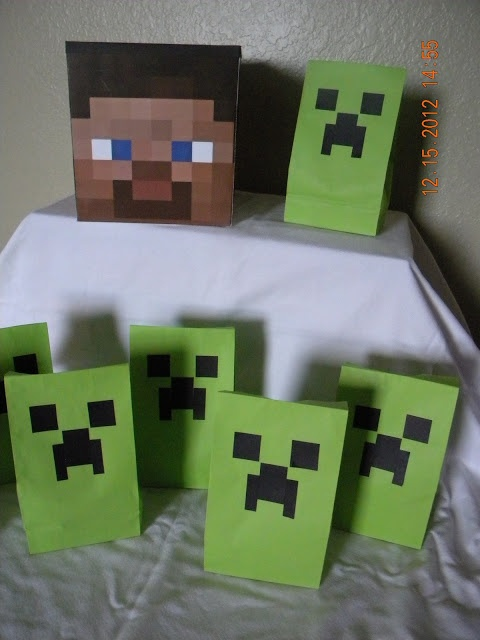 Seeing as Mindcraft is HUGE at my house. This is a great idea.  From http://scrappysugargirl.blogspot.com