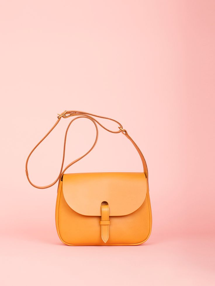 Peggy - Caramel Leather Bag, Mimi Berry SS16