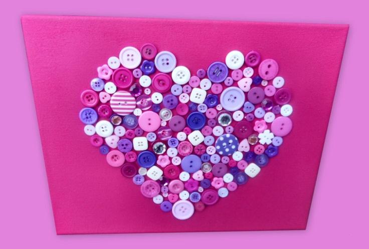 Buttons on canvas- knopen schilderij
