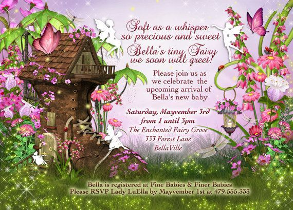 Fairy Baby Shower Invitation, Fairy Party, Fairy Invitations, Fairytale Invitations                                                                                                                                                                                 More