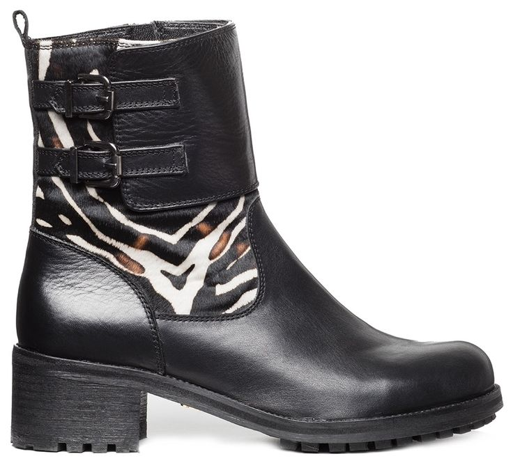 Biker boot zebra