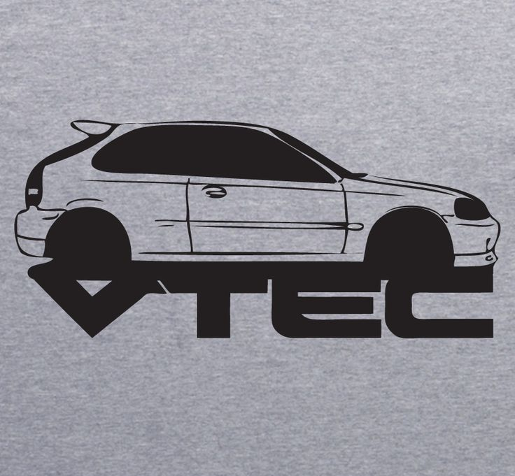 HONDA CIVIC Vtech grey T-Shirt by XBrosApparel ?... X Bros Apparel Vintage Motor T-shirts, VW Beetles, Buses, Mustangs, Muscle Cars, Imports.... Great price, Find us on Etsy, Ebay...?. CLICK ON IMAGE