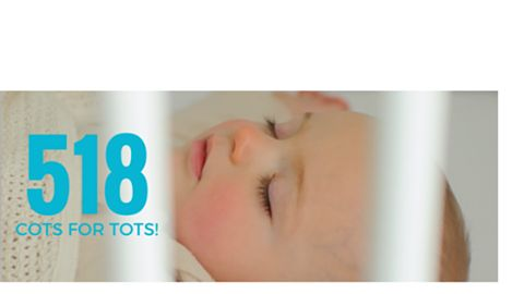 Thank you! You have helped us met and exceed our goal of 500 cots. Thanks to a couple of last minute donations you helped us hit an amazing world record of 518 cots!