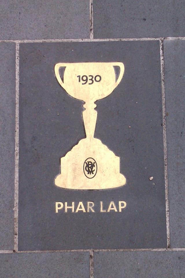 The world-famous Phar Lap - won the Melbourne Cup at Flemington Race Course