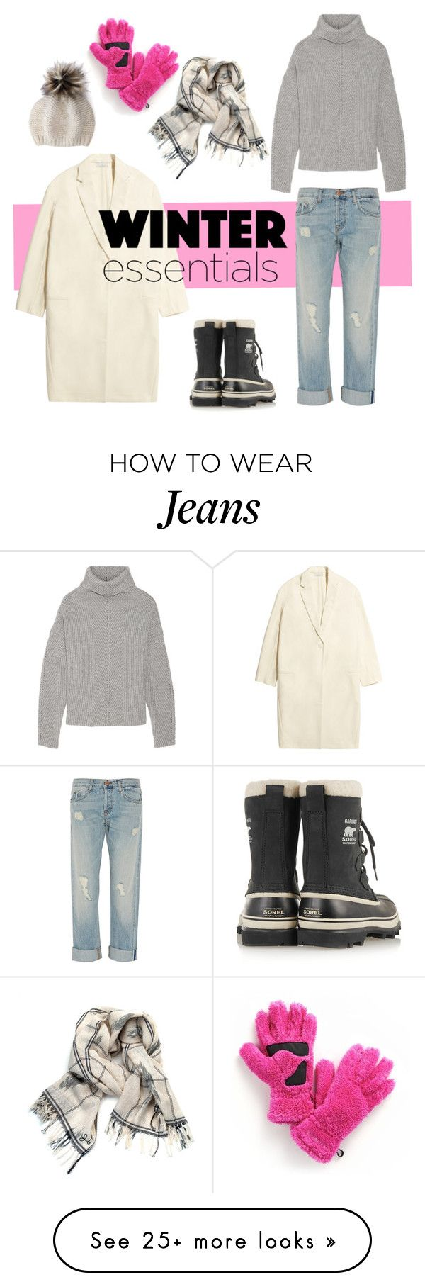 """""""Get Ready for Winter"""" by youaresofashion on Polyvore featuring Studio Nicholson, Maje, J Brand, SOREL, Little Fool Textiles, Columbia Sportswear and winteressentials"""