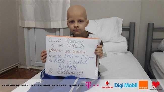Vladimir de doar 8 ani a fost diagnosticat cu Tumora Wilms un tip de cancer renal rar care îi poate pune oricând viata în pericol