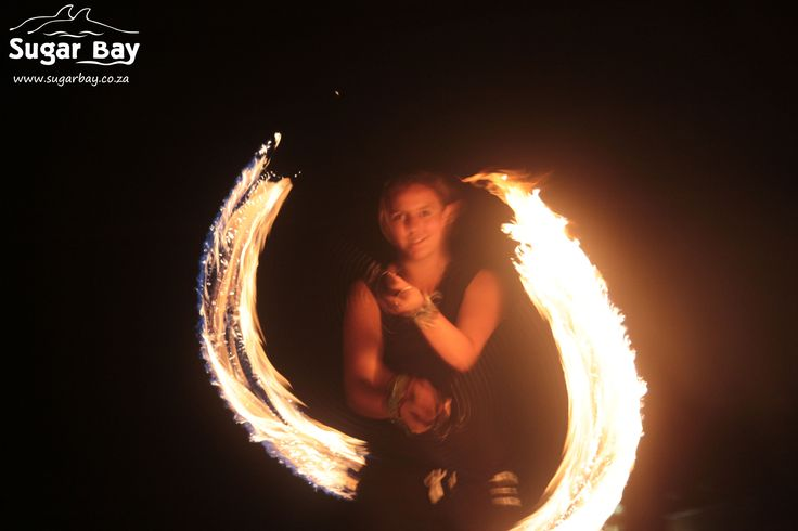 Practice makes perfect! Our fire show contestants practice a great deal before showing us their breath taking fire spinning skills.