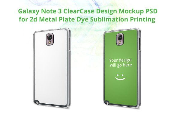 Galaxy Note 3 2d ClearCase Mock-up by VecRas on @creativemarket