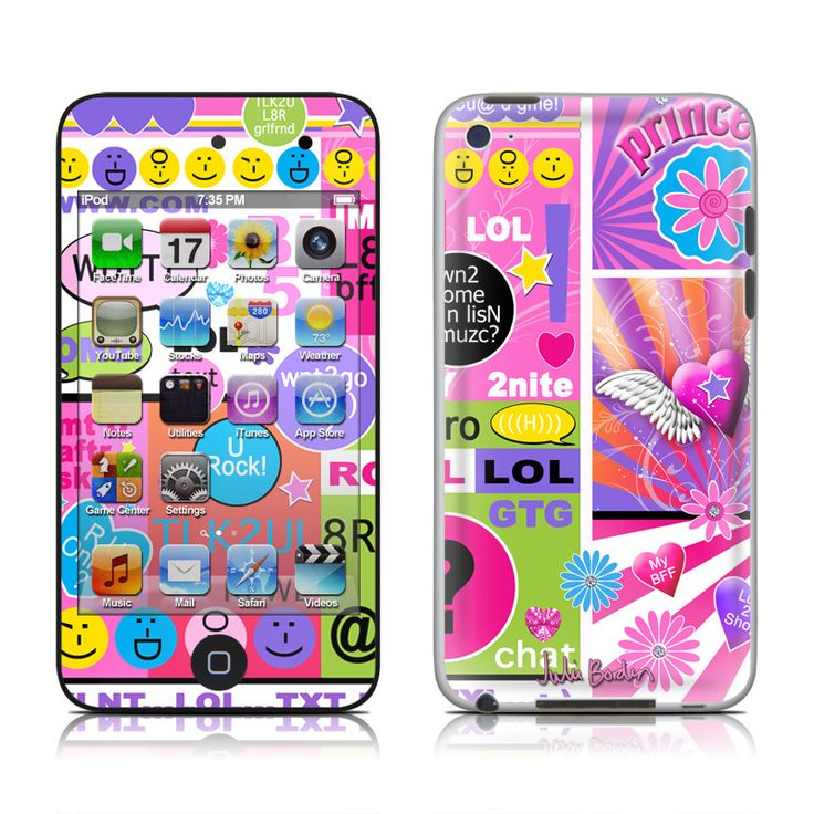 justice ipod cases for girls | BFF Girl Talk iPod touch 4th Gen Skin - Covers iPod touch 4th Gen for ...