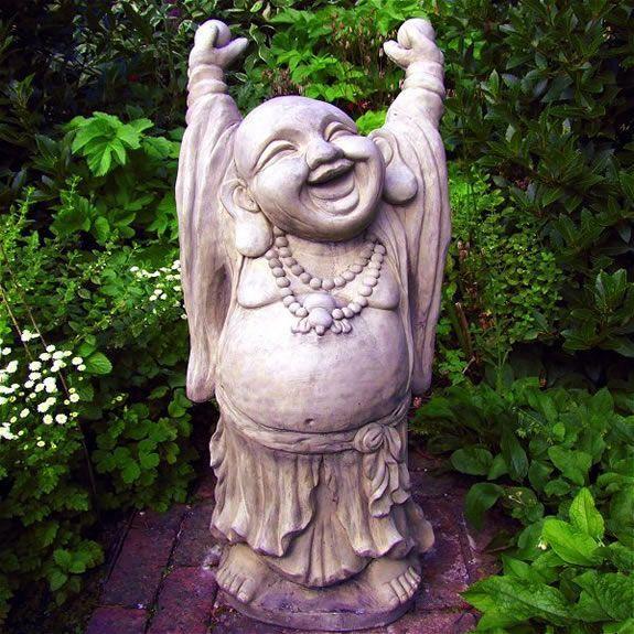 Buddha Laughing Garden Ornament Amiska Garden Statues Buddha Garden Garden Ornaments