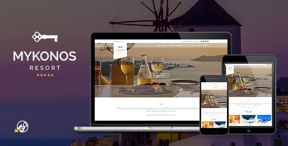 wpthemeclub: Mykonos Resort - Hotel Theme For WordPress