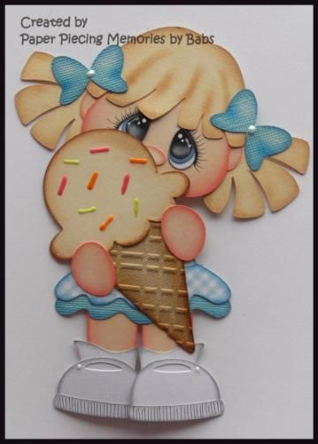 Ice-Cream-Girl-Blonde-Premade-Paper-Piecing-Die-Cut-for-Scrapbook-Page-byBabs