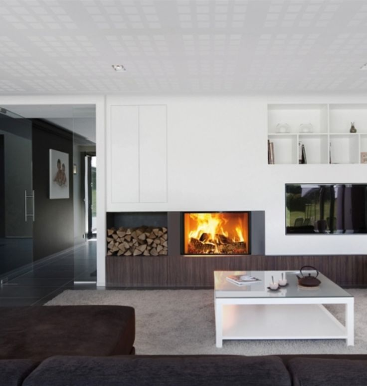 wood stove - Bodart and Gonay phenix 95 green, subtly designed with sophisticated lines.