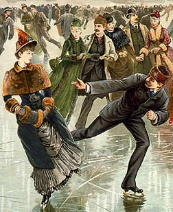 How did the Victorians amuse themselves during a cold New York winter, ice skating