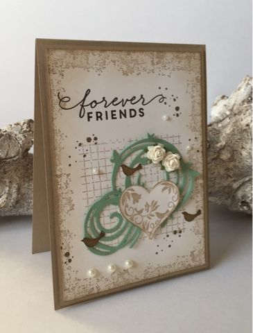 Card made with Swirly Scribbles from Stampin' Up!