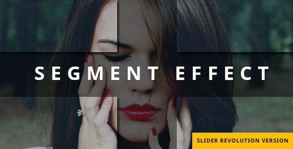 Segment Effect - Slider Revolution Addon . Turn your images into pieces and add movement to each piece, This plugin will add life to your sliders images and will attract your site visitor,It's perfect for those who look for more than just simple