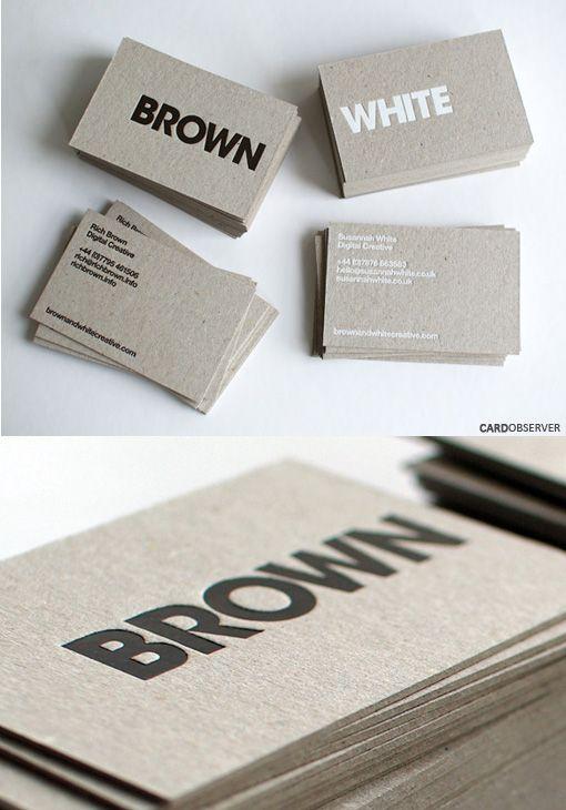 #brown #white #card #branding #identity