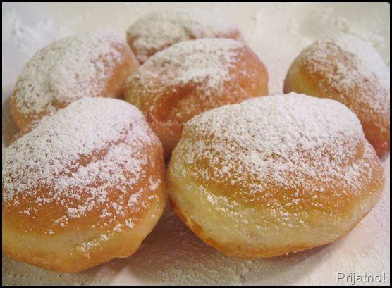 krofne - Serbian doughnut