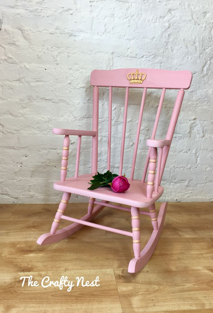 Childrens rocking camp chairs - Every Little Princess Deserves Her Own Special Throne Or Rocking Chair Blush Pink And