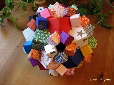 Origami ♣ Columbus Cube ♣ - YouTube | Origami Kusudama ... - photo#28