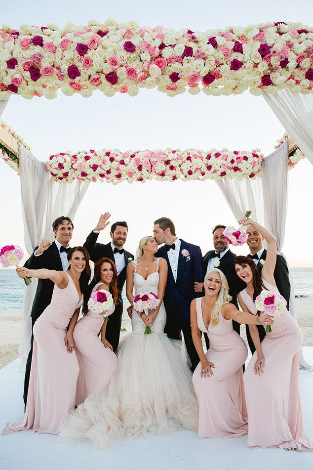 Barbie Blank's Wedding Album: See Pics of Her Gorgeous Dress, First Kiss With Hubby Sheldon Souray, Their Six-Tier Cake & More! on | E! Online Mobile