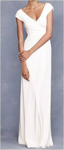 simple gown. Cecelia Gown (J.Crew, $495).    Just in case we go to the court house
