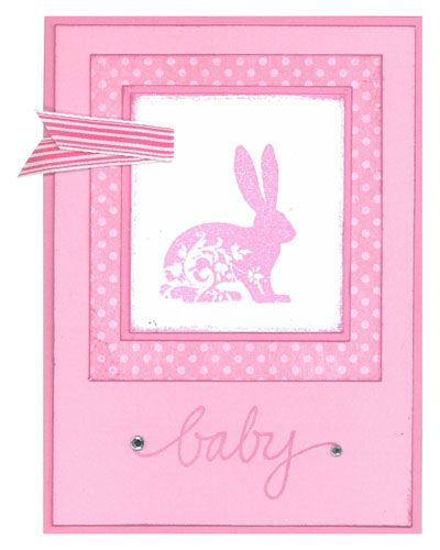 Stamp-it Australia: 4956D Bunny Flourish, 3132D Baby - Card by Susan