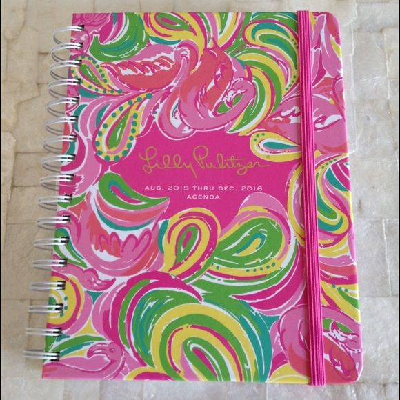 Lilly Pulitzer 2016 All Nighter 17-Month Agenda Gorgeous Lilly Pulitzer spiral bound 17 month agenda in All Nighter pattern! Convenient pockets, sticker sheet, palm beach map, travel adventure journal, address and note pages, and gorgeous monthly and weekly spreads!!! Brand new with tags and unused in excellent condition! Please ask if you have any questions. 15% off all bundles! Lilly Pulitzer Accessories