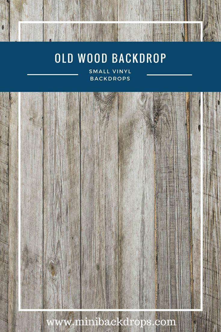 Old Wood - Mini Vinyl Backdrop - 032-w – Mini Backdrops