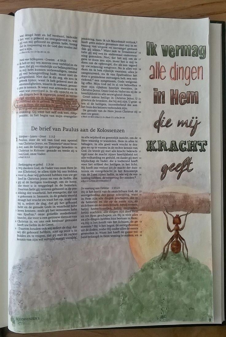 Filippenzen 4 vers 13. Ontwerp van Linette Trapman. Vrij te gebruiken voor Bible Journaling