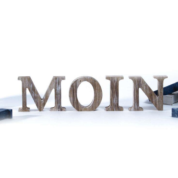 Moin HOLZBUCHSTABEN weiß & natur >>