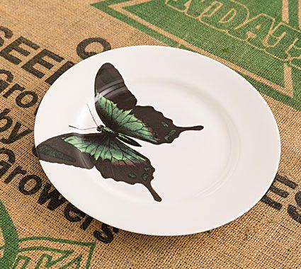 Butterfly Dinner Plate Green