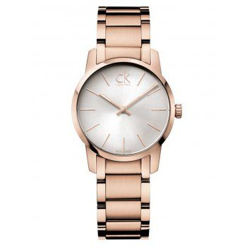 Calvin Klein Watches Lady's Rose Gold Plated City Watch - Calvin Klein Watches from Bonds Jewellers Limited UK