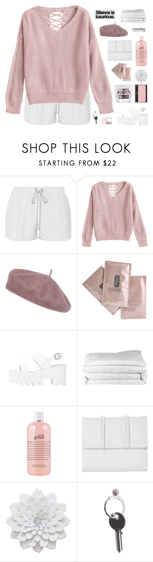 """""""she hit the floor"""" by via-m ❤ liked on Polyvore featuring Elizabeth and James, Accessorize, Clinique, Frette, NARS Cosmetics, philosophy, GET LOST, Bench, Butter London and Maison Margiela"""