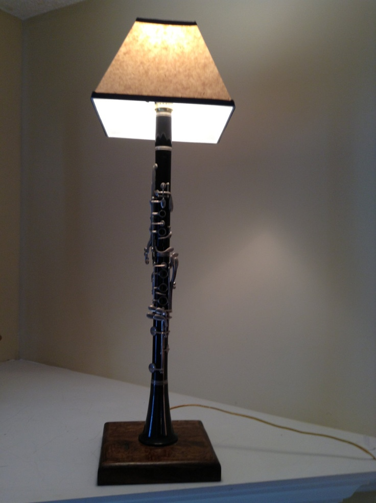 Upcycled Clarinet Lamp Etsy Clarinet And Lamps