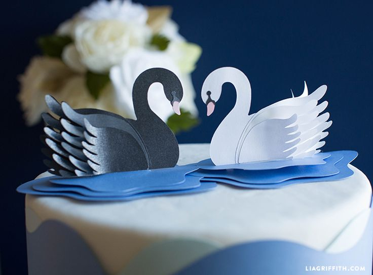 Открытка из бумаги лебедь, картинки