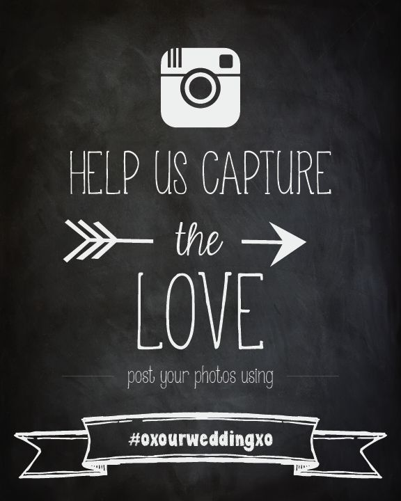 Instagram Wedding Sign | Wedding Hashtag