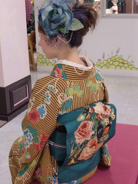 Modern take of a kimono, sold at Mamechiyo, Japan.