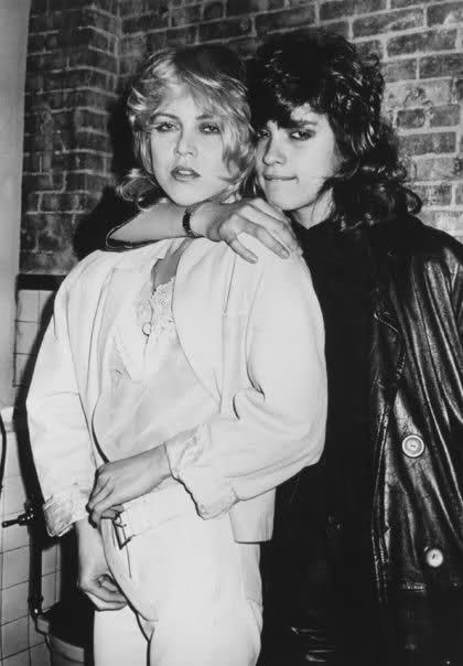 Gia Carangi with Sally Linter at Studio 54.  Unknown date.