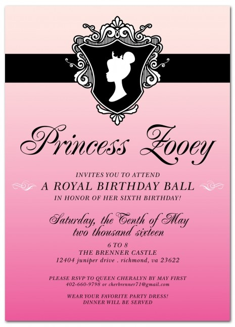 76 best the royal ball images on pinterest 7th birthday royal ball kids birthday party invitation tammy aguilera stopboris Image collections